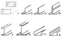 Рисунки 1-8. Несущие профили для потолков