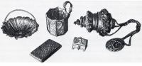 Серебряные сканые изделия XVIII—XIX вв., так называемая филигрань