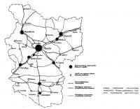 Схема районной планировки минского промышленного района