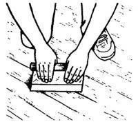 Шпатлевание напольного покрытия
