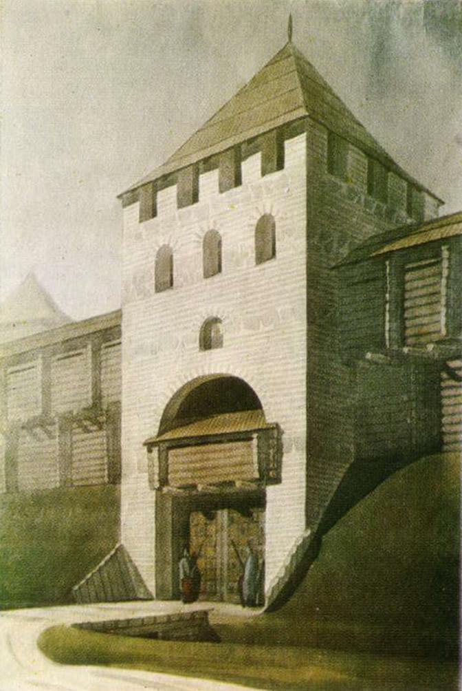 Софийские (Батыевы) ворота киевского детинца. Реконструкция автора