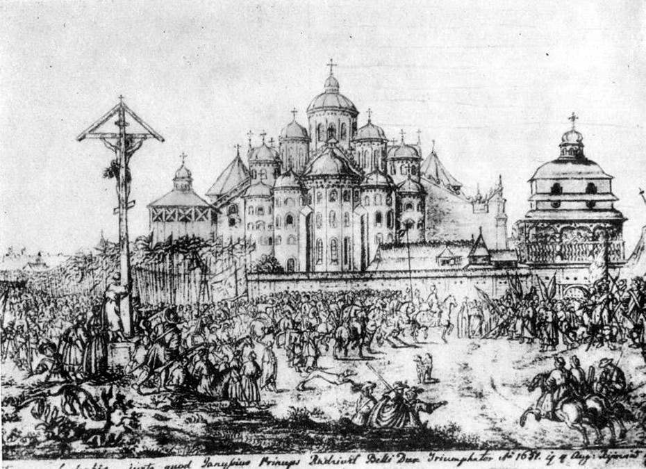 Софийский собор. Рисунок А. Вестерфельда 1651 г
