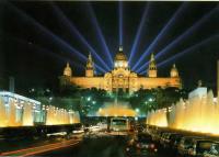 Современный вид светового ансамбля Всемирной выставки в Барселоне