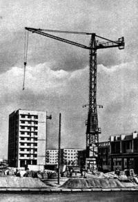Строительство жилых домов в микрорайоне Зеленый луг. 1964 г.
