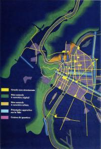 Световой план Лиона. Светодизайнер А. Гийо, 1989