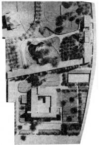 Тель-Авив. Комплекс посольства СССР. Проект 1967 г. Генплан