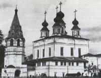 Троице-Гледенский монастырь. Общий вид на центральную группу сооружений с юго-запада