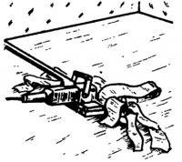 Удаление наслоений пенопласта