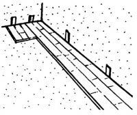 Укладка 1-го ряда ламината