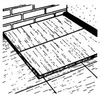Укладка 2-го слоя изолирующих панелей