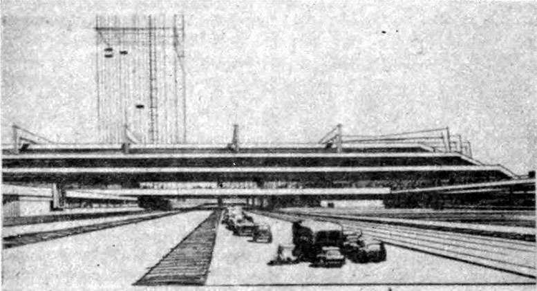 Ульяновск. Реконструкция центра города. Конкурсный проект 1965 г. Эскиз