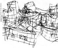 Университет в Толедо. Ф. Гери, Испания. Рисунок, 1990