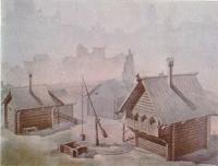 Усадьба киевлянина по данным раскопок на Подоле. Реконструкция В. А. Харламова