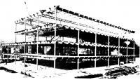 Установка стальных конструкций автокраном