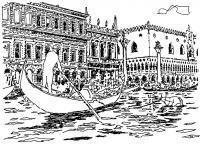 Венеция. Набережная у дворца Дожей