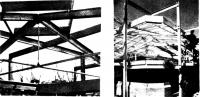 Вертикальный разрез и вид спереди конструкции покрытия. Деталь подвески