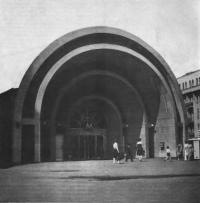 Вход на станцию метро «Красные ворота». Архитектор И. Ладовский, 1935