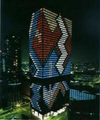 Юбилейное освещение административного здания IBM в Чикаго. Светодизайнер Д.Д. Муни, 1989