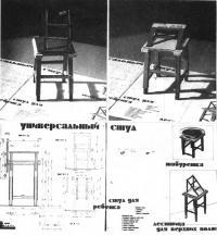 Задание по курсу Основы эргономики: Универсальная скамья-табуретка